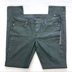 Rich & Skinny Coated Green Skinny Jeans